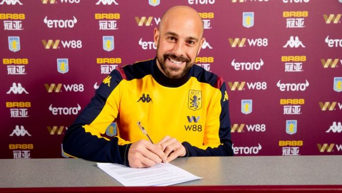 Pepe Reina has joined Aston Villa until the end of the season