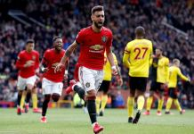 Bruno Fernandes scored his first Manchester United goal against Watford