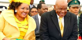 Lesotho's Prime Minister Thomas Thabane and his current wife Maesaiah Thabane