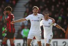 Marcos Alonso scored twice to rescue Chelsea from defeat against Bournemouth