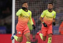 Substitute Gabriel Jesus scored a late goal as Manchester City beat Leicester City