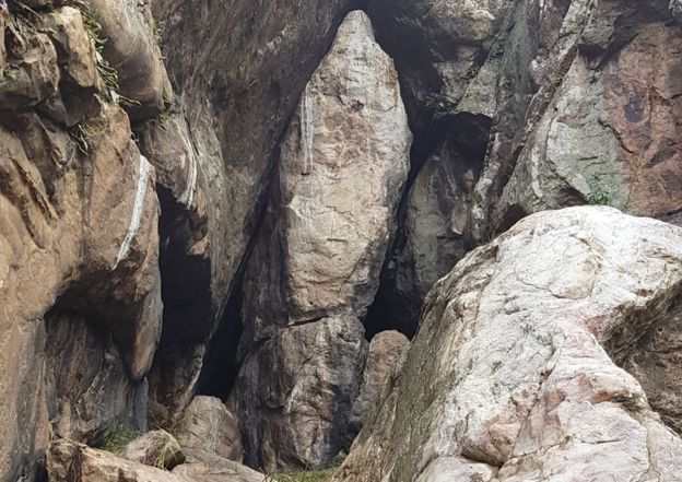 Followers of the Movement believed that this rock resembled the Virgin Mary