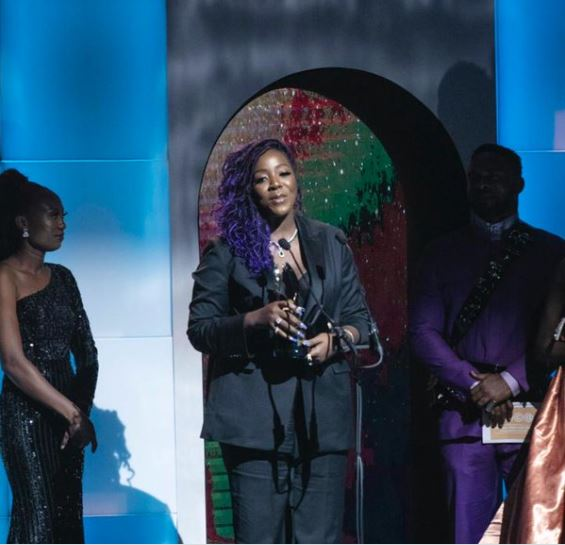 Nicole Asinugo and CJ Obasi have won the AMVCA award for the 'Best Writer In A Movie Or TV Series' for Living In Bondage