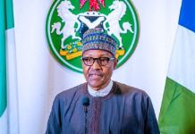President Muhammadu Buhari addressing Nigerians on the coronavirus pandemic