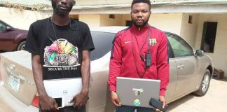 Robert Sunday Olaoluwa and Obi Sobenna Jude have been arrested by the EFCC for job scam