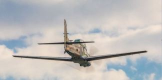 Nigerian Air Force A29 Super Tucano completed its inaugural flight at its production facility in Jacksonville, Florida Photo: Embraer international flight
