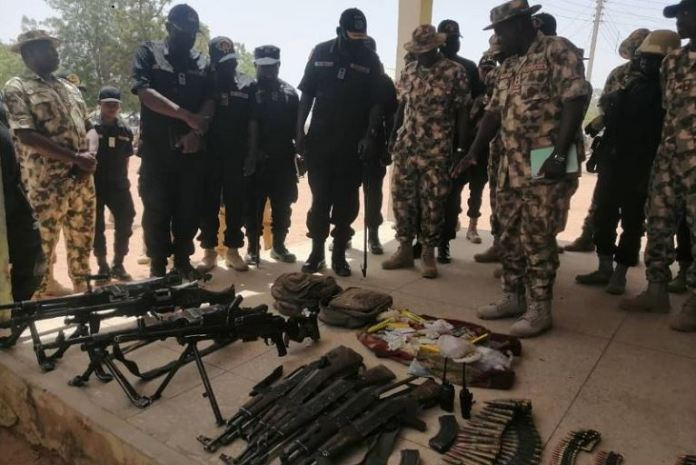 Some of the weapons recovered from the terrorists after Yobe raid