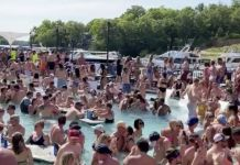 In Missouri, revellers partied on the Lake of the Ozarks, violating social-distancing rules on Memorial Day