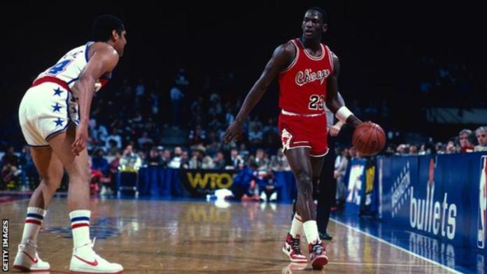 Michael Jordan won six NBA titles and was a five-time NBA MVP