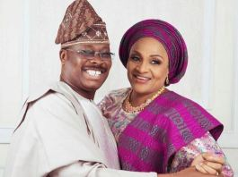 Governor Abiola Ajimobi and Mrs Florence Ajimobi