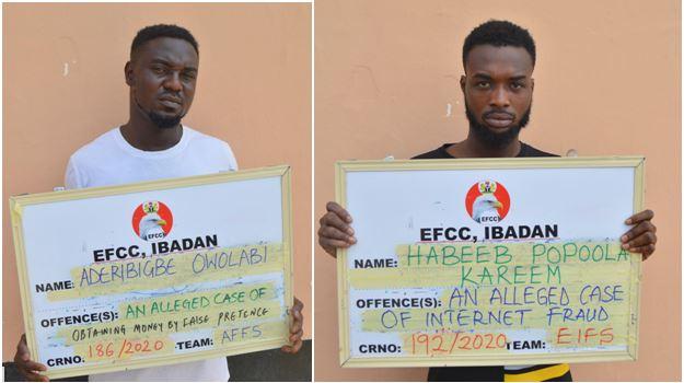 Court jails Owolabi Aderibigbe and Habeeb Popoola Kareem for impersonation