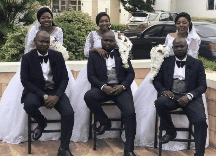 Triplets brothers marry triplet sisters in Enugu