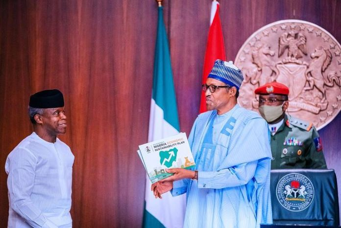 Vice President Yemi Osinbajo submits the Sustainability Plan to President Muhammadu Buhari Agriculture for Food and Job Plan