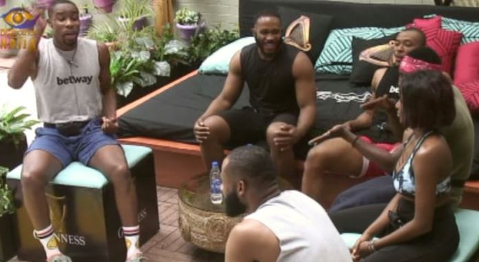 A scene from the fifth edition of BBNaija
