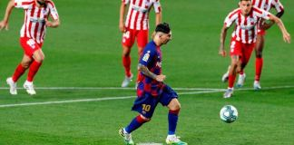 Lionel Messi scored his 700th career goal with a Panenka penalty against Atletico Madrid in the league