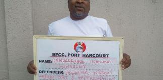 Onwuzuruike Ikenna Kingsley a.k.a Jeff Sikora arraigned for internet fraud