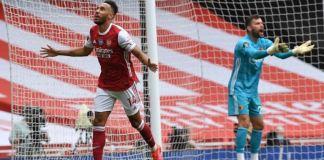 Pierre-Emerick Aubameyang scored his 21st and 22nd Premier League goals
