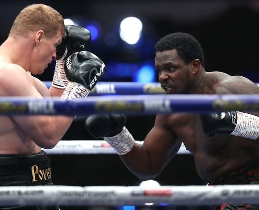 Alexander Povetkin knocked out Dillian Whyte in the fifth round