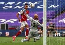 Pierre Emerick-Aubameyang scored twice as Arsenal beat Chelsea to win the FA Cup