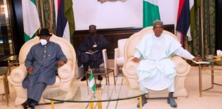 President Muhammadu Buhari received briefing from ECOWAS Special Envoy and former President, Dr Goodluck Jonathan
