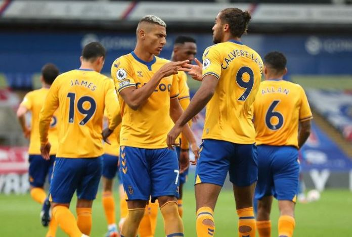 Dominic Calvert-Lewin and Richarlison both scored for Everton
