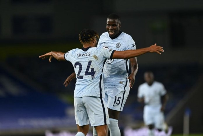 Reece James and Kurt Zouma both scored for Chelsea in the 3-1 win against Brighton