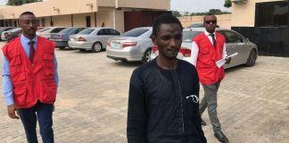 Abubakar Ibrahim was docked for fraud efcc