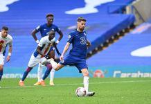 Jorginho scored twice from the spot as Chelsea beat Crystal Palace 4-0