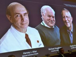 Nobel Prize in Medicine was awarded to Michael Houghton, Harvey Alter and Charles Rice for Hepatitis C discovery