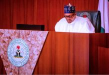 A virtual meeting with former Heads of State presided over by President Buhari at the Council Chambers in the State House, Abuja land border