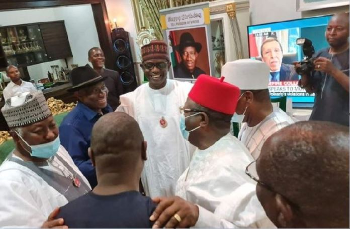 APC governors paid former President Goodluck Jonathan a visit