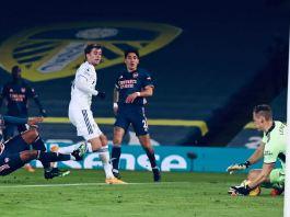Arsenal goalkeeper Bernd Leno made a string of fine saves to deny Leeds United