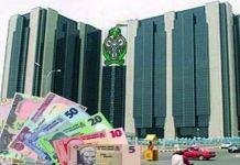 Central Bank of Nigeria CBN logo naira dollar