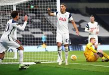 Dele Alli, left, was involved in three of Tottenham's four goals