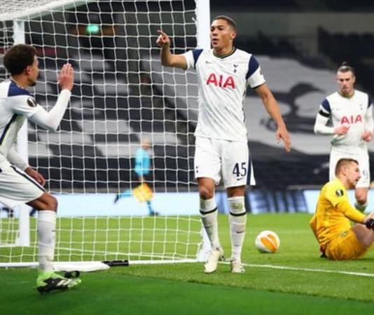 Dele Alli, left, was involved in three of Tottenham's four goals