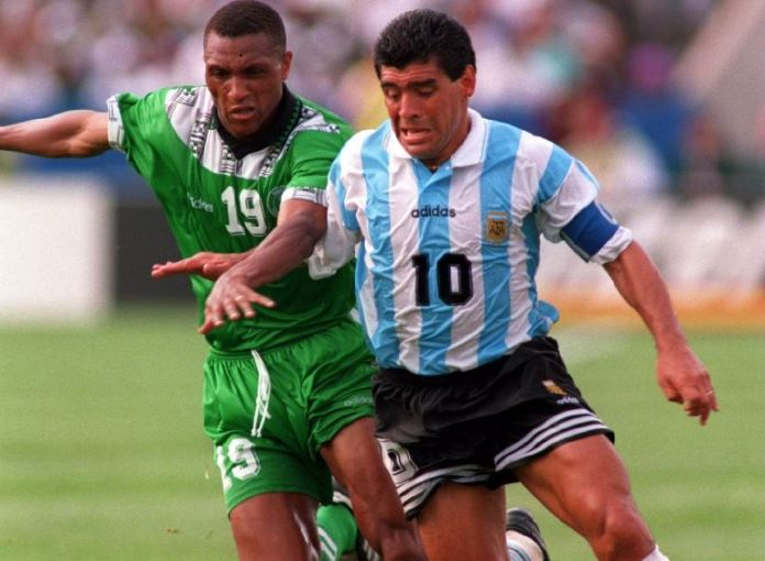 Diego Maradona played against Nigeria in the 1994 World Cup in USA