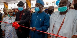Governor Babajide Sanwo-Olu of Lagos commissioning projects in Apapa Iganmu LCDA