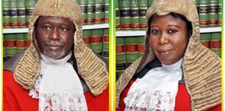 Justice Muazu Pindiga and Justice Beatrice Lazarus Iliya saka