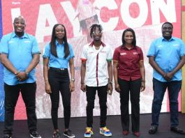 "From L-R, Martin Mabutho, Chief Customer Officer, MultiChoice Nigeria; Omoyeme Effiong, Executive Head, Customer Value Management, MultiChoice Nigeria; Olamilekan Agbeleshe ""Laycon"", GOtv Brand Ambassador; Busola Tejumola, Executive Head of Content, MultiChoice Nigeria and Akinola Salu, Executive Head of Sales MultiChoice Nigeria, at the Unveiling of Laycon as GOtv Brand Ambassador yesterday"