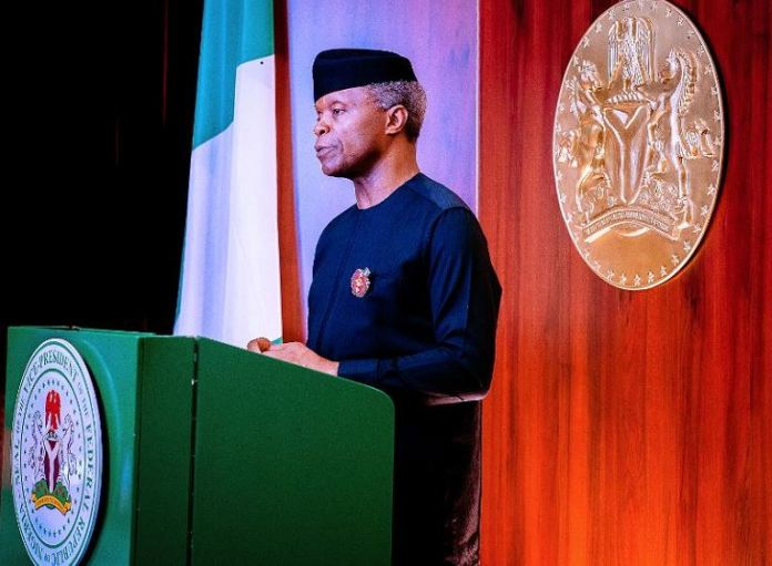 Vice President Yemi Osinbajo SAN on behalf of President Buhari delivers virtually the opening remarks at the 26th Nigerian Economic Summit themed; Building Partnerships for Resilience