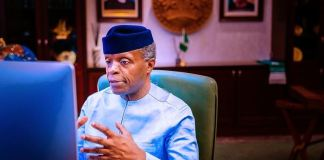 Vice President Yemi Osinbajo urging Huawei Nigeria to give more young Nigerians jobs net-zero emissions