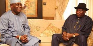 Former Vice President Atiku Abubakar and Former President Goodluck Jonathan