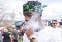 Man smoking blunt marijuana colorado
