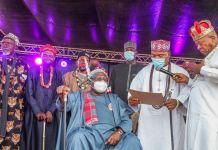Senate President Ahmad Lawan conferred as High Chief of Nwannedinamba 1 of Igbere by the Igbere Clan Council of Ndi Eze in Abia State