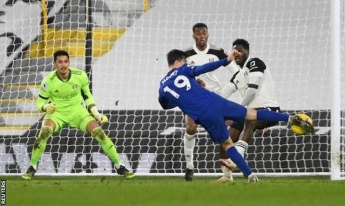 Mason Mount's strike was Chelsea's 800th away goal in the Premier League