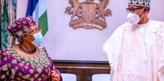 Dr Ngozi Okonjo-Iweala and President Buhari