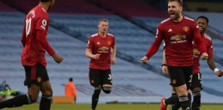 Man Utd celebrates victory against Man City