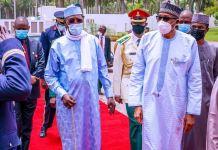 President Muhammadu Buhari and President Idriss Deby