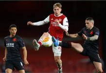Arsenal held by Slavia Prague in Europa Quarter finals
