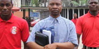 EFCC Operatives taking Ayodeju Ibrahim Oluokun to Court